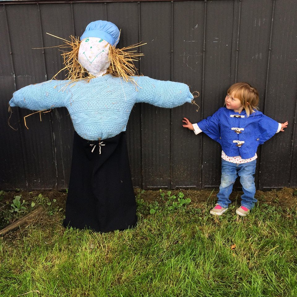 Ramona and the scarecrow.jpg