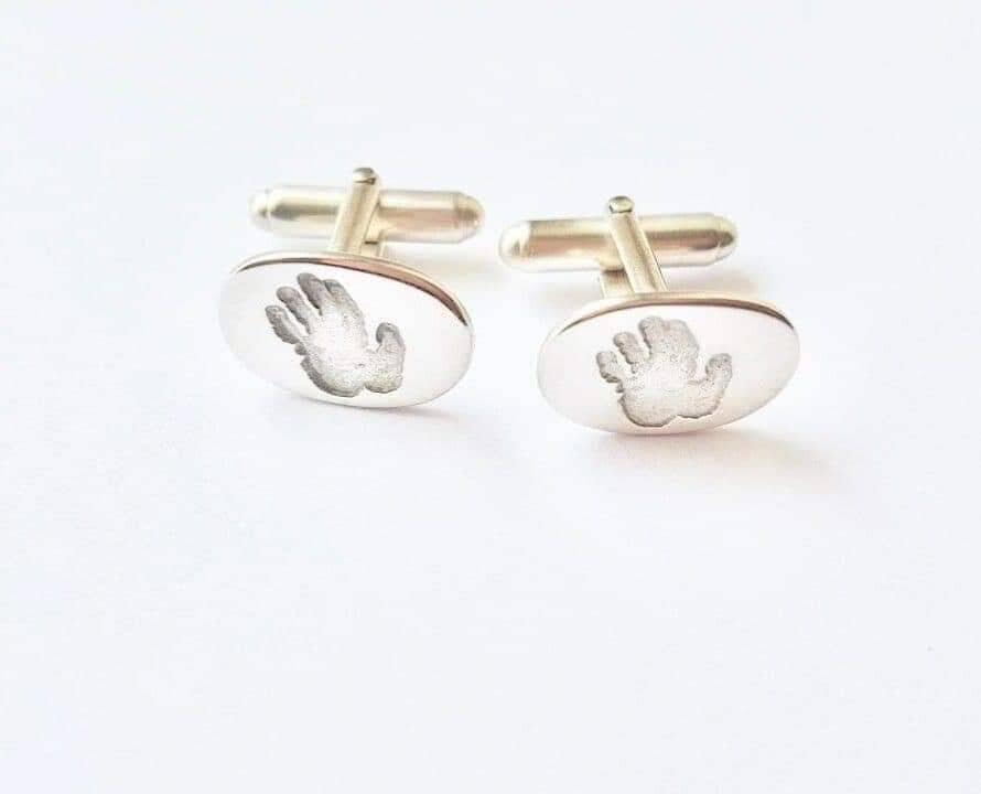 BPP silver  hand print cuff links.jpg