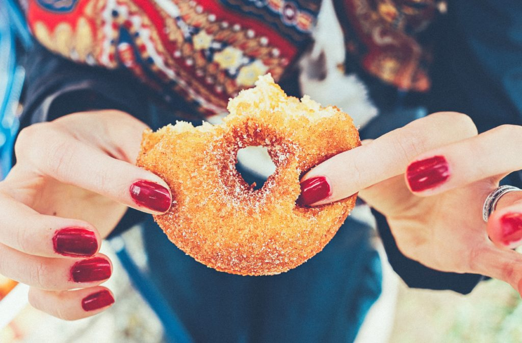Sometimes, despite our best intentions, we eat a donut. Photo by Thomas Kelley on Unsplash
