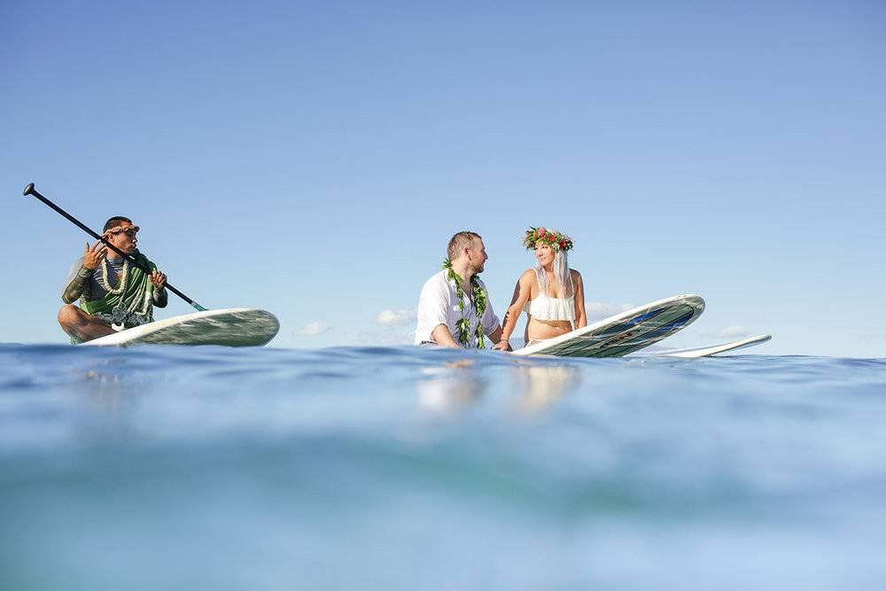 Maui surfing wedding ceremony with Bliss Beach Weddings