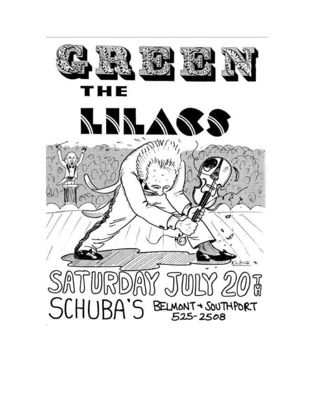 The Lilacs Poster 5 (Green at Schuba's July).jpg
