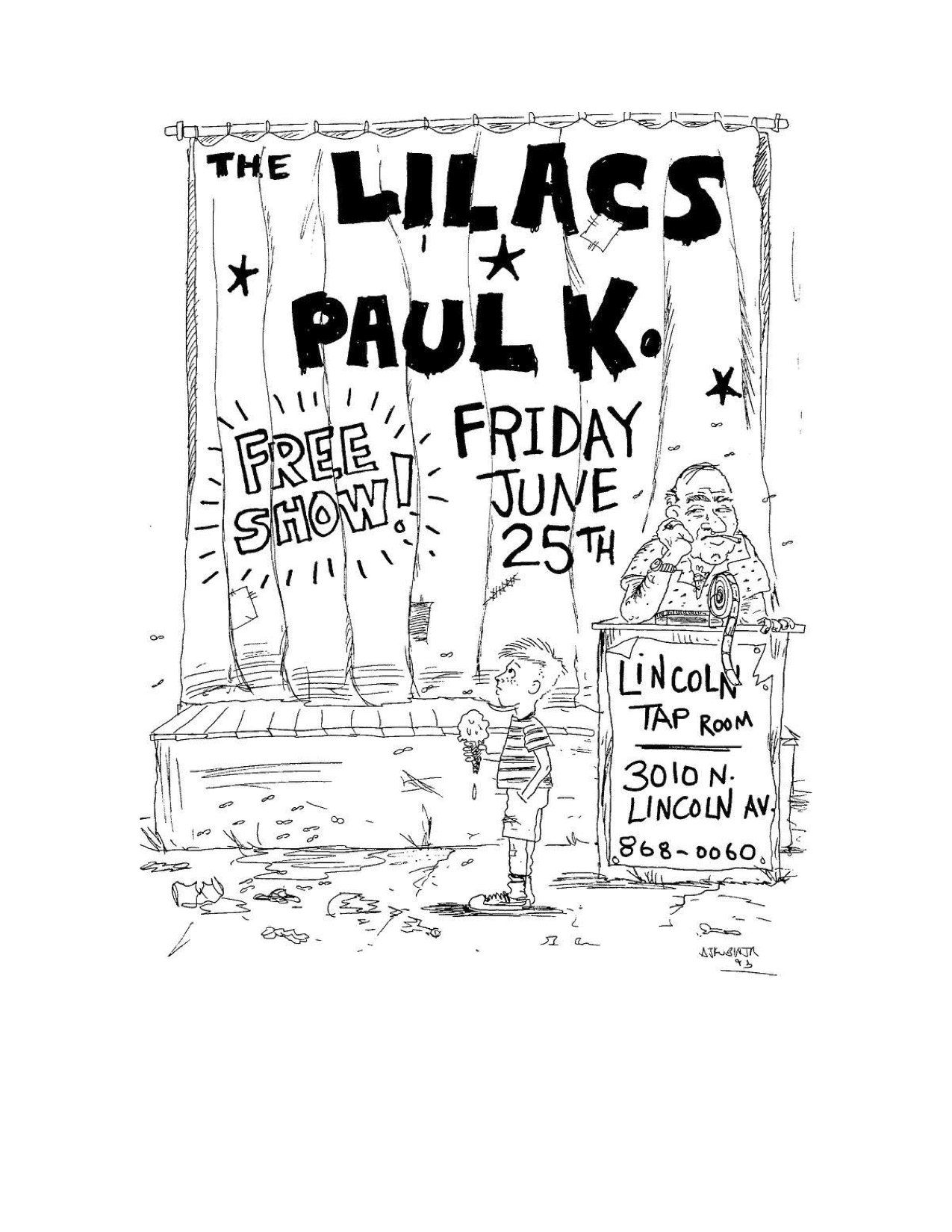 The Lilacs Poster 36 (Paul K at Lincoln Tap).jpg