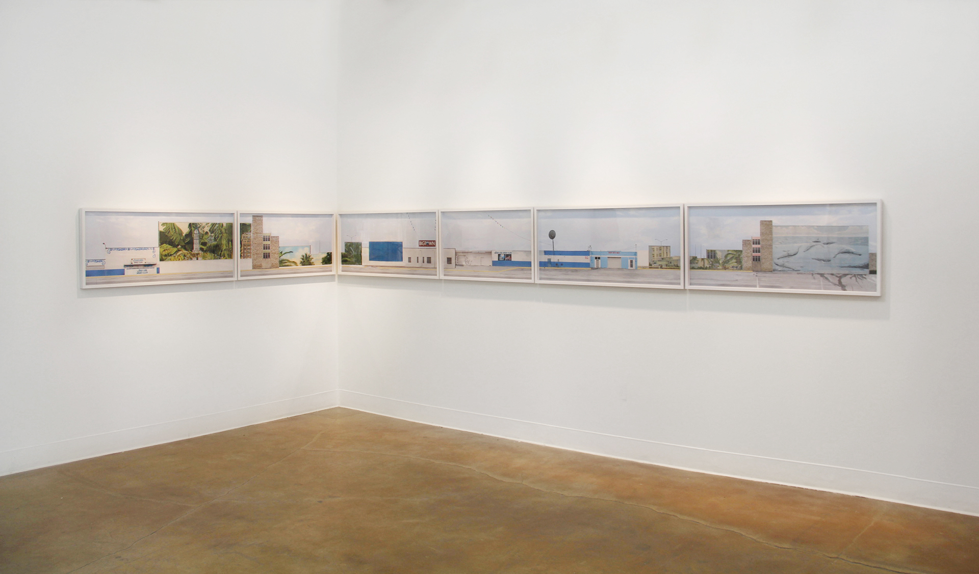 The Strip,  Installation View from  Fictional/Familiar  at Swarm Gallery, Oakland, CA, 2013