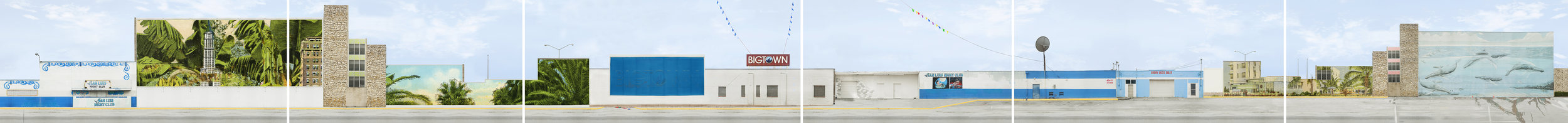 The Strip,  6 panels, 20 inches x approximately 22 feet, archival pigment prints, 2013