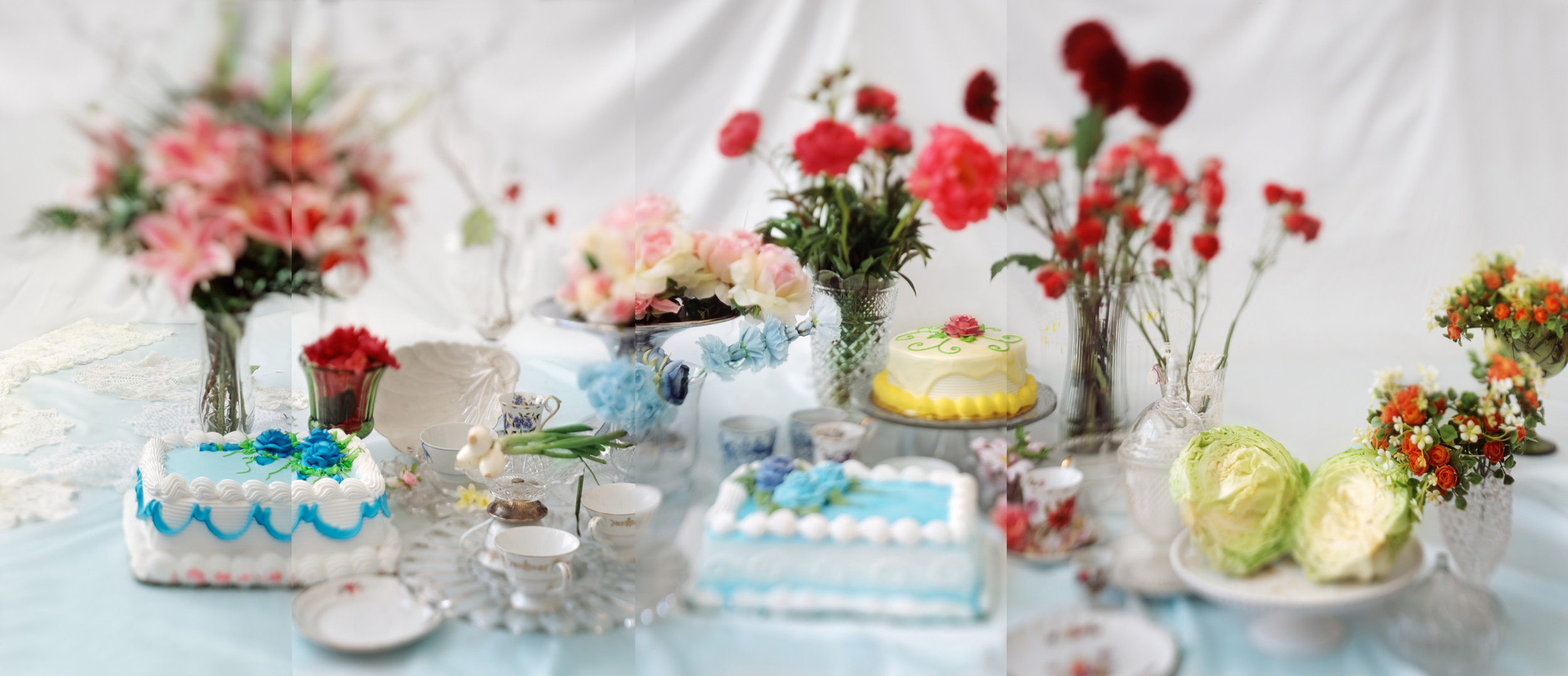 Blue Cake,  22 x 52 inches, archival pigment print, 2009