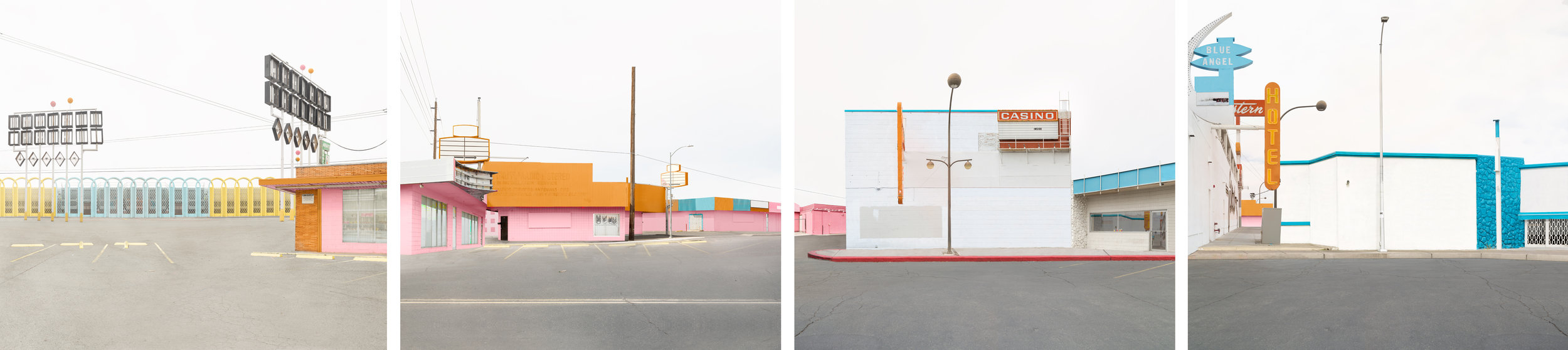 Blue Crush,  4 panel piece, 20 x 88 inches, archival pigment prints, 2016
