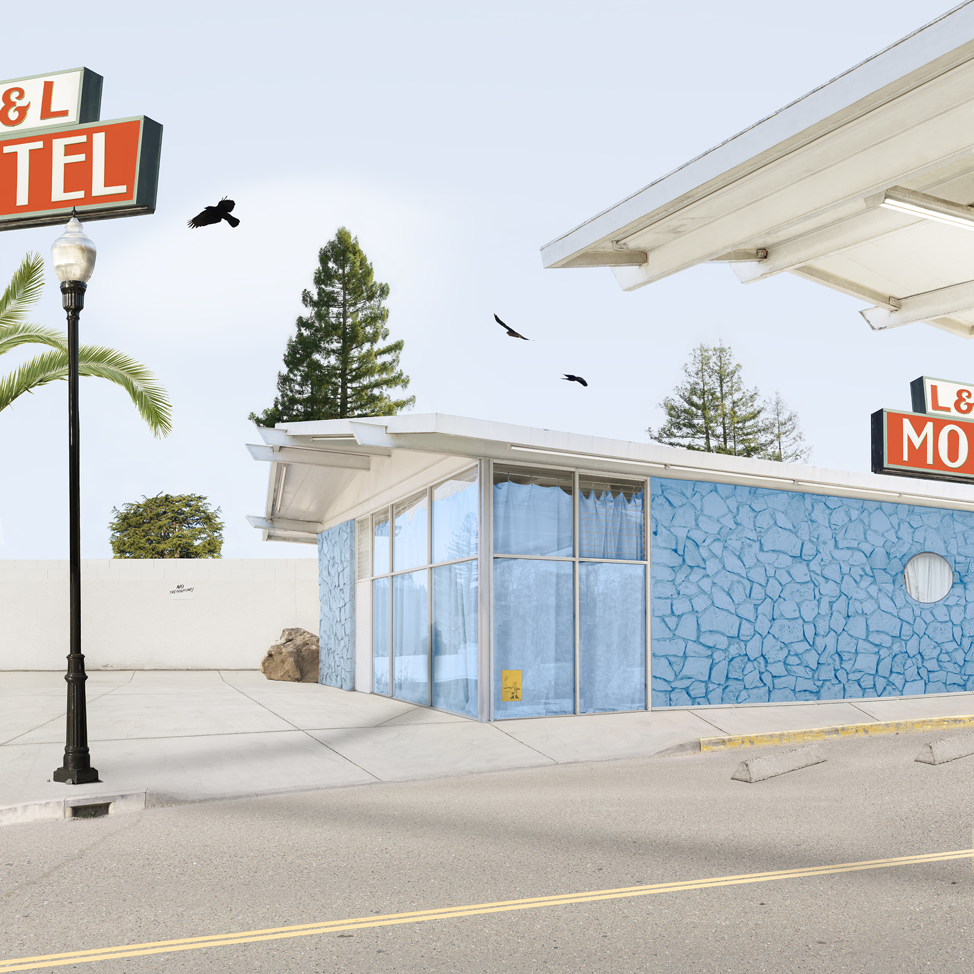Motel,  30 x 30 inches, archival pigment print, 2018