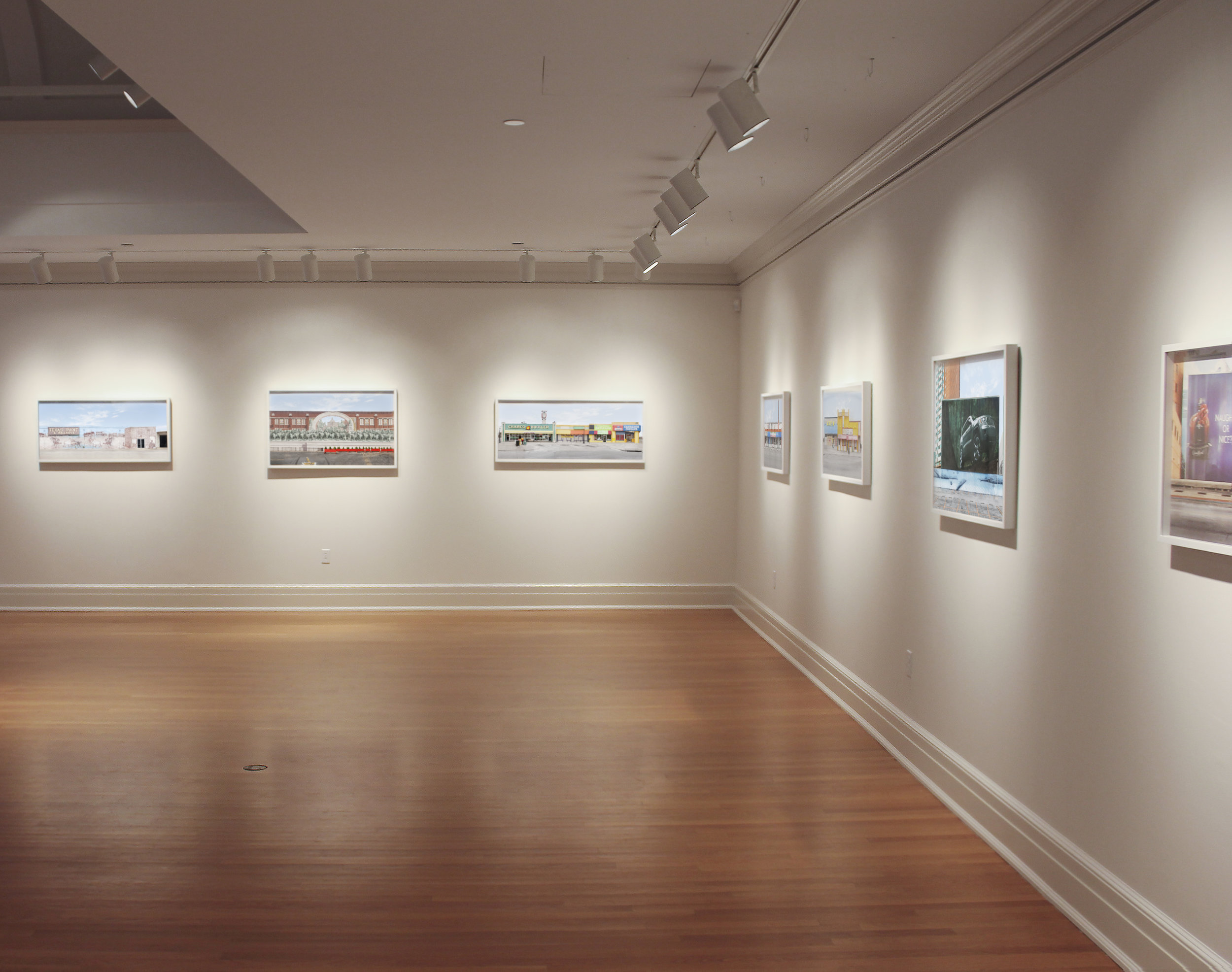 Installation view,  Manifest Destiny  at the Tremaine Gallery at the Hotchkiss School, Lakeville, CT, 2013