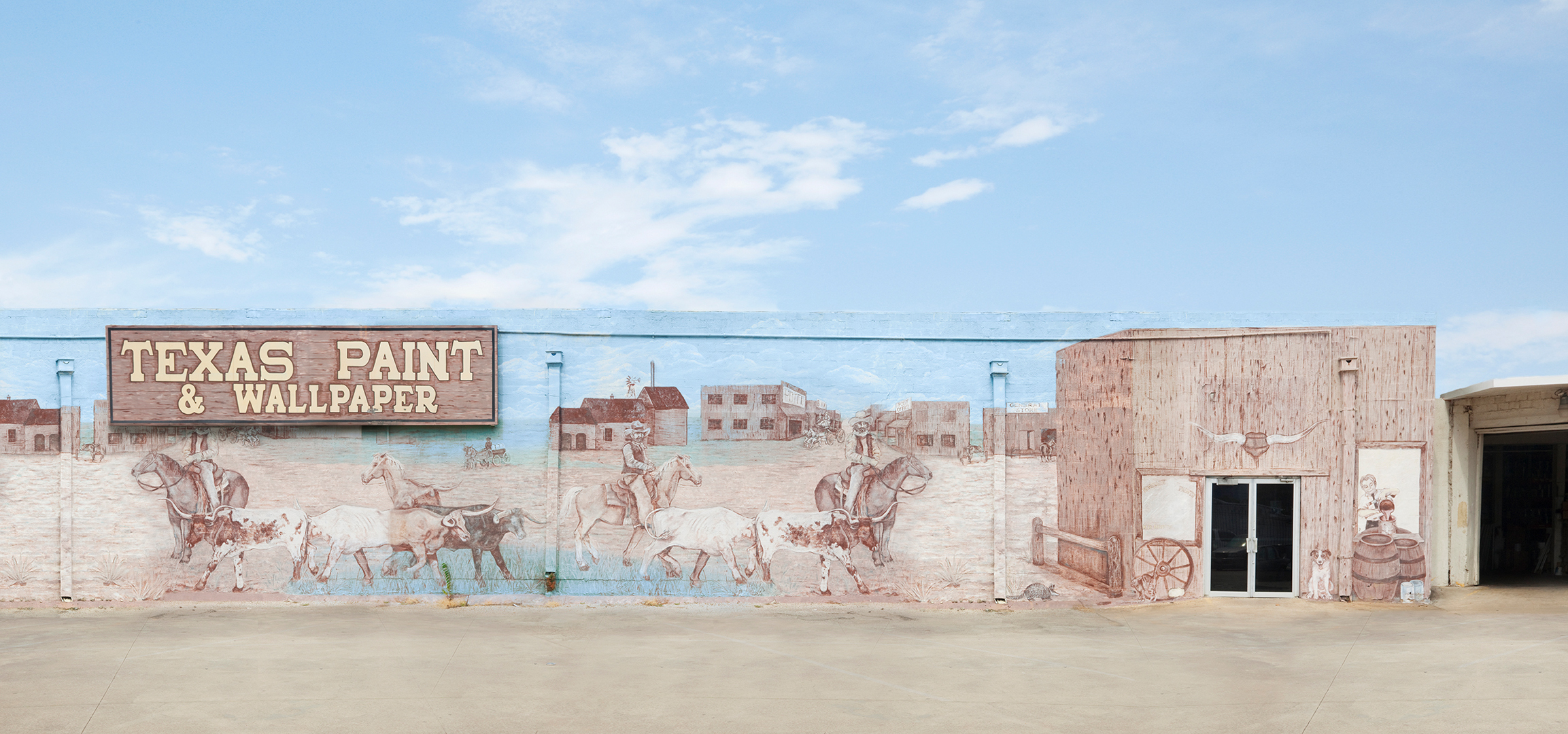 Texas Paint and Wallpaper,  23 x 40 inches, archival pigment print, 2011