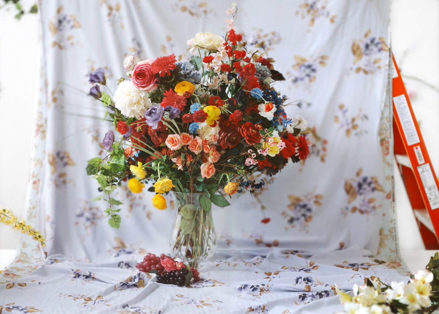 Bouquet with Ladder , 21 x 30 inches, archival pigment print, 2009