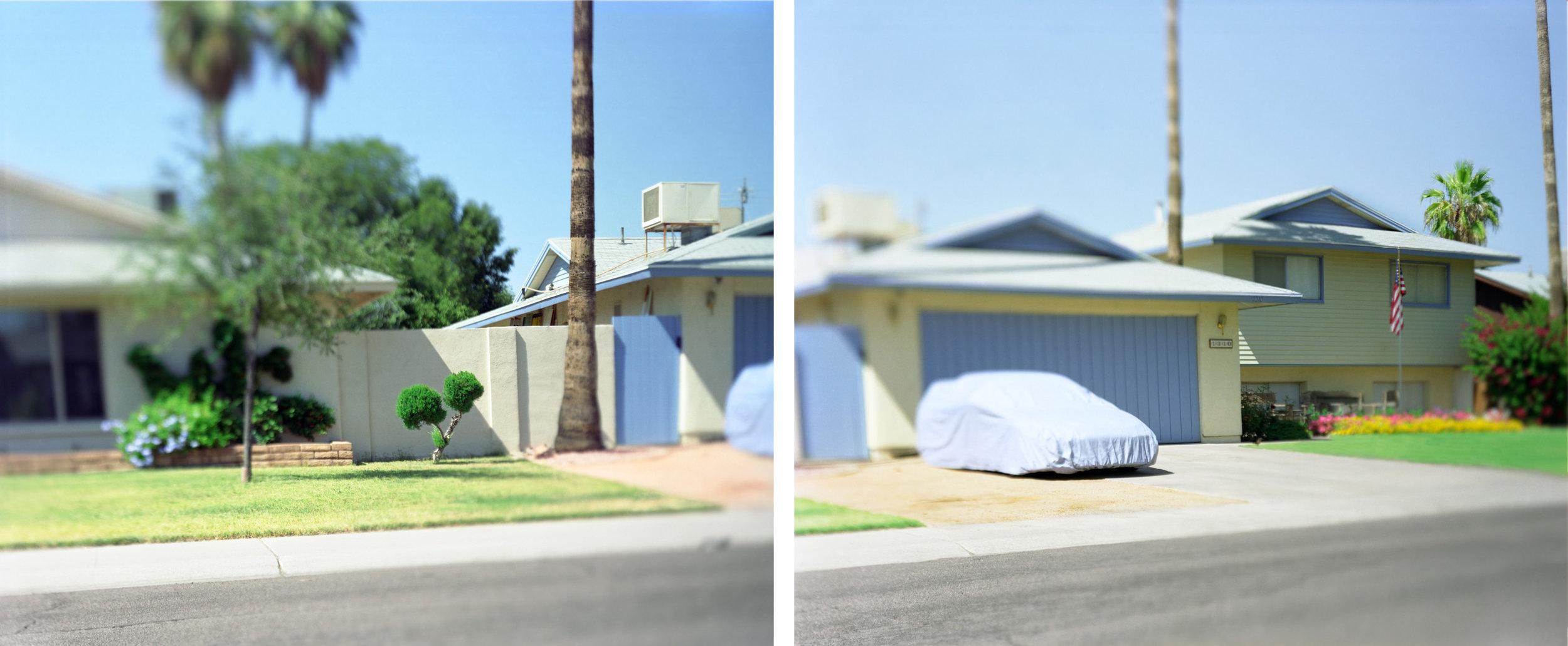 Little Bush, Bundled Car , 24 x 48 inches, archival pigment prints, 2006