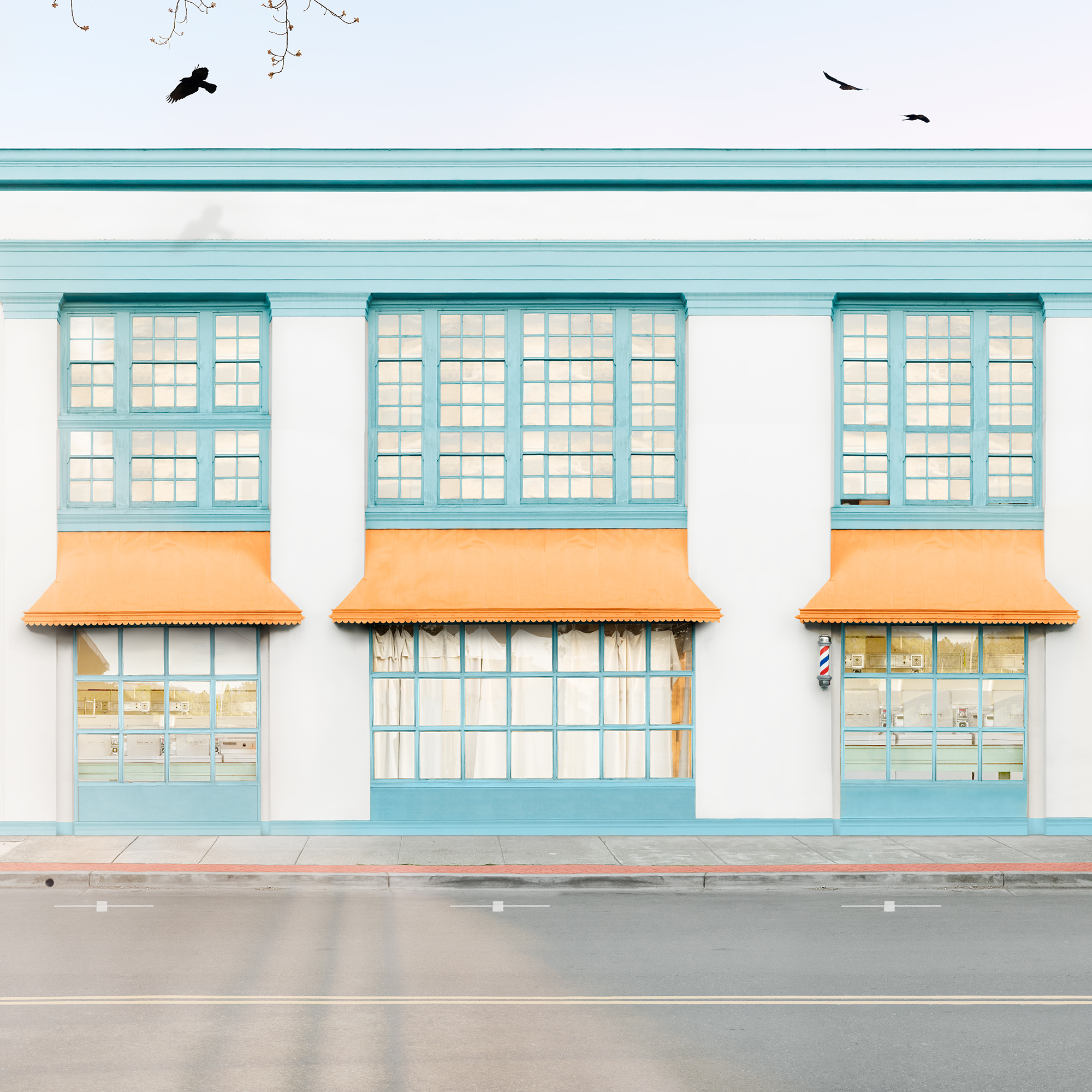 Laundromat , 43 x 43 inches, archival pigment print, Harmon Guest House, 2018