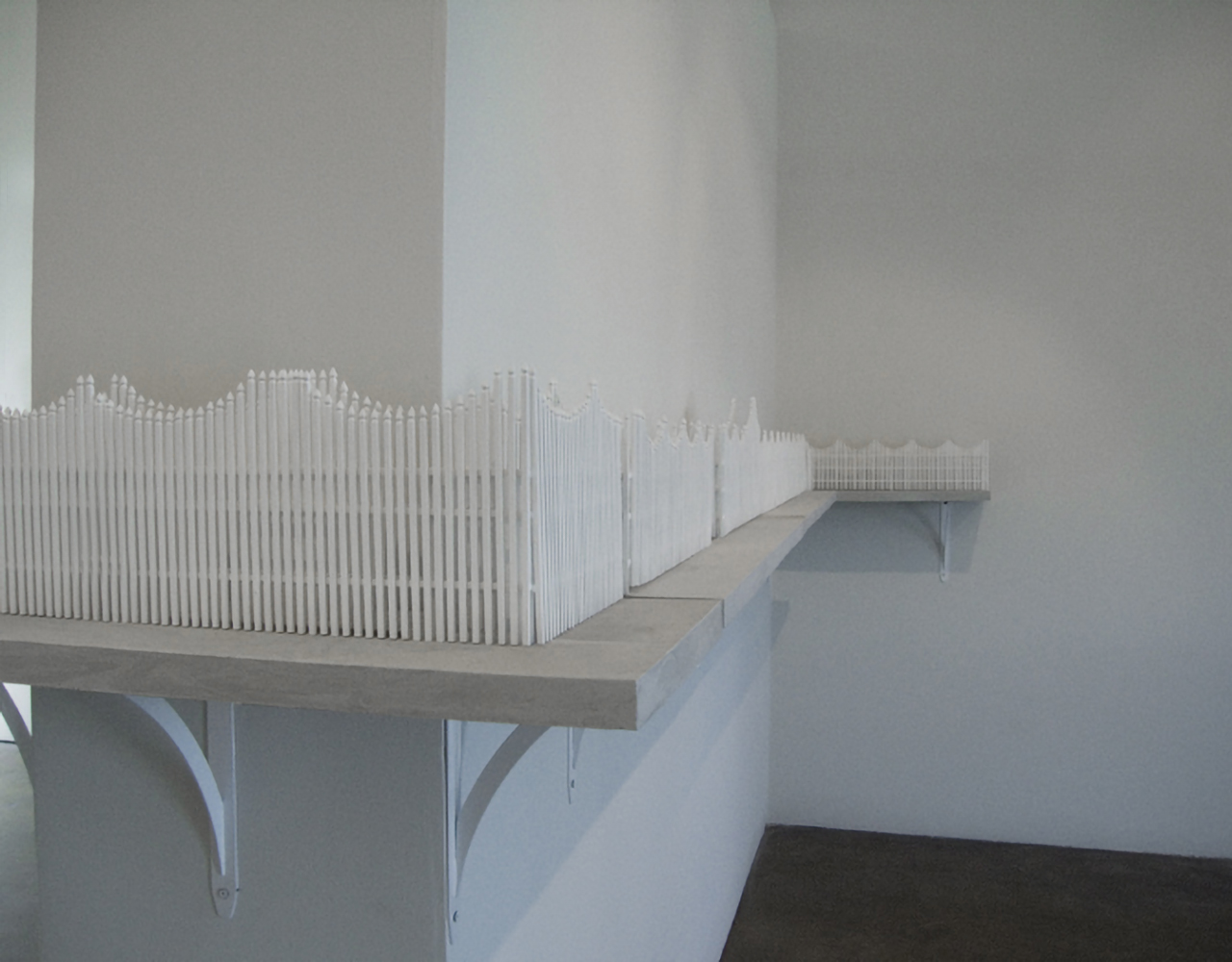 Installation view (detail),  Fence  exhibition, Eye Lounge Gallery, Phoenix, AZ, 2007