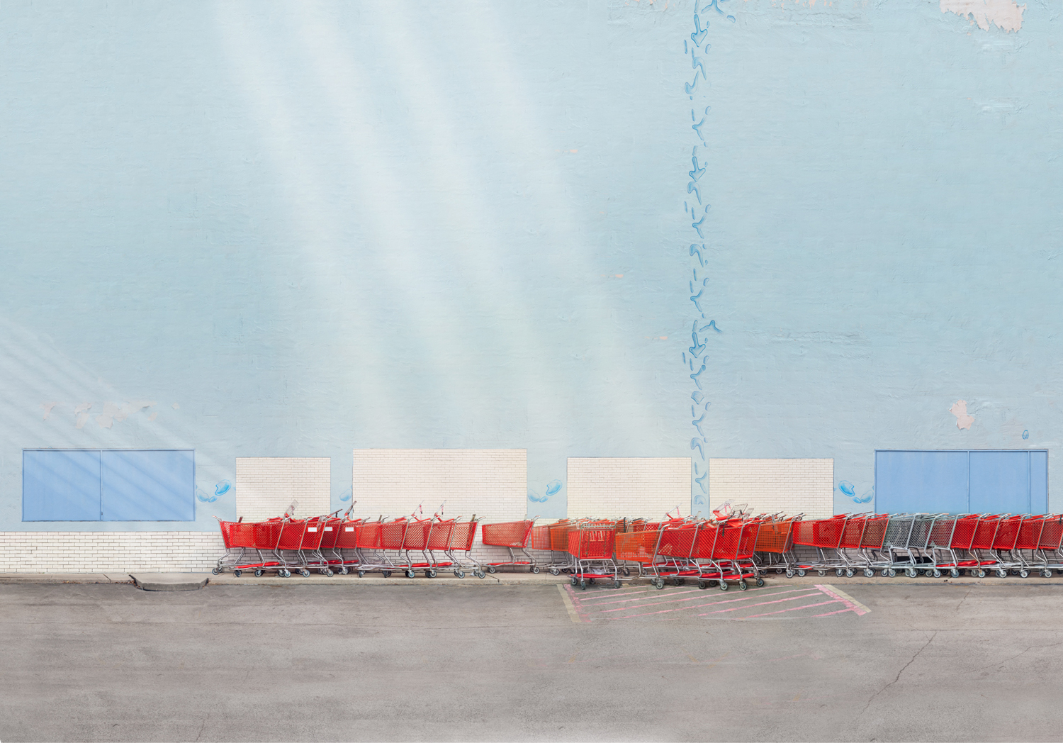 Carts,  25 x 35 inches, archival pigment print, 2014