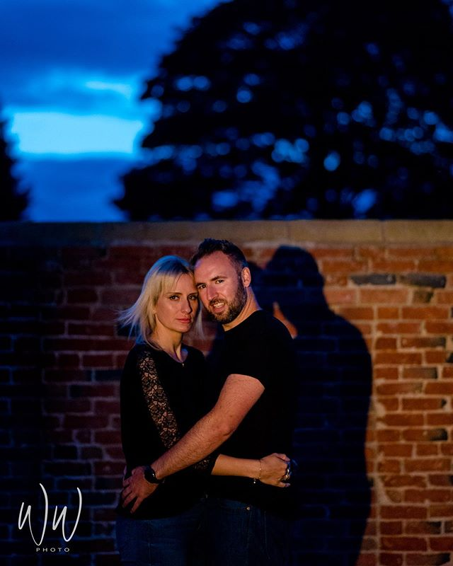 Laura & Lee are getting married this Autumn, here a summers evening portrait together at their home in Yorkshire.  #somersetwedding @pennardhouse #prewedding #nightportrait @lauraflamingoo @leeroy17