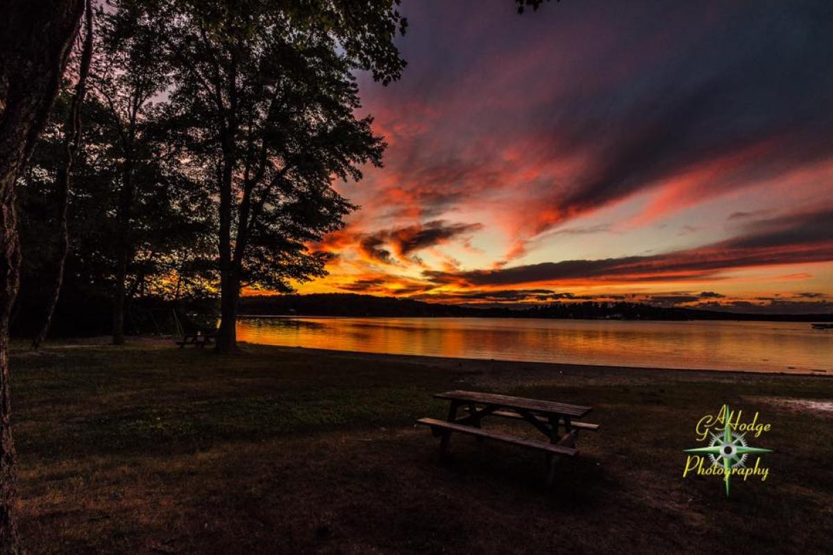 Stunning sunset over Bantam Lake. Photo credit: Gary Hodge