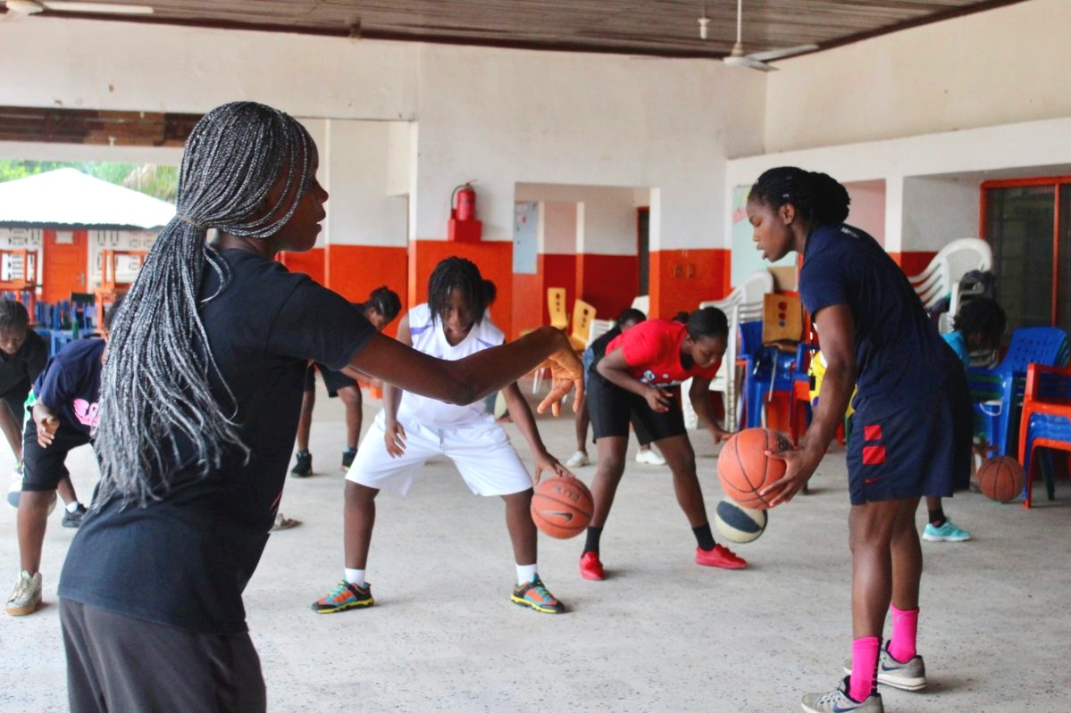 Basketball Clinics - Rebound Liberia uses daily basketball clinics as a tool for defending gender equality and as a social gathering place that reinforces stability, leadership, cooperation, discipline and a culture of mentorship. The clinics culminate with an end of year tournament that put the young women in the center stage of their community where their talents can be valued.