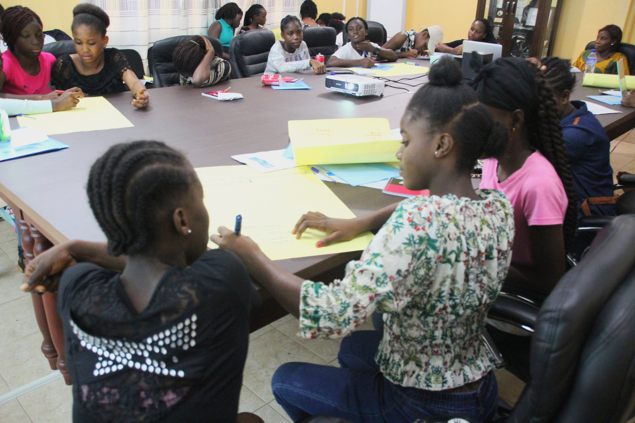 College and Career Readiness - Rebound Liberia hosts weekly literacy workshops where participants can improve on reading and writing skills through culturally salient and age appropriate material. Participants also get exposure to other opportunities which complement academics such as college readiness, preparing for the next steps after high school, accessing education in Liberia and abroad, and exploring other alternatives if education is not an option.