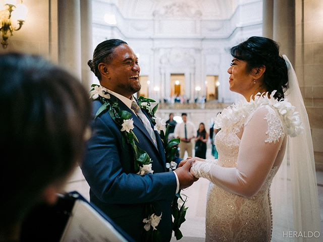 Throw in' it back to last Thursday when Stephen photographed his cousin's wedding at San Francisco City Hall. . . These two - so much joy!