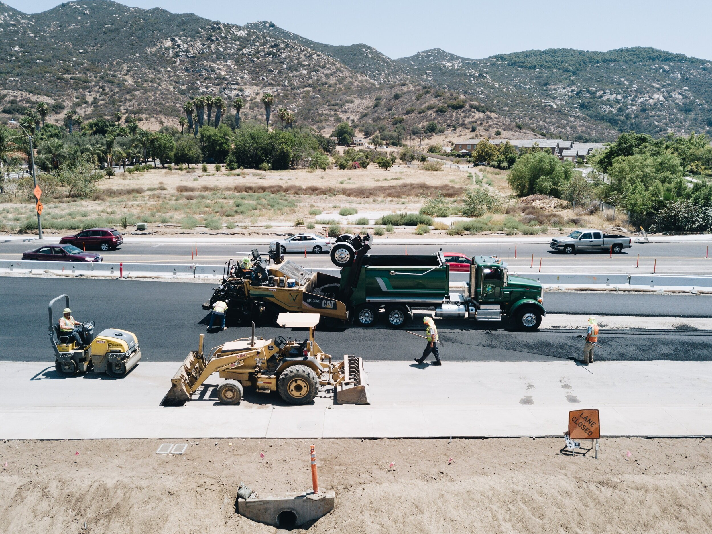 - At George Weir Asphalt Construction we take great pride in completing projects of all shapes and sizes on time and on budget. We work with General Contractors, Public Agencies, Property Managers, HOA Communities, and Private Homeowners to provide the highest quality of service to our customers.