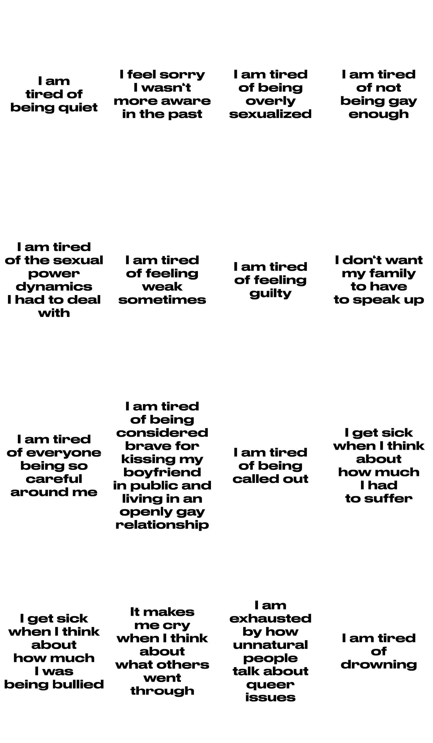 Visual Poetry Series. Full 44 statements. (2019)