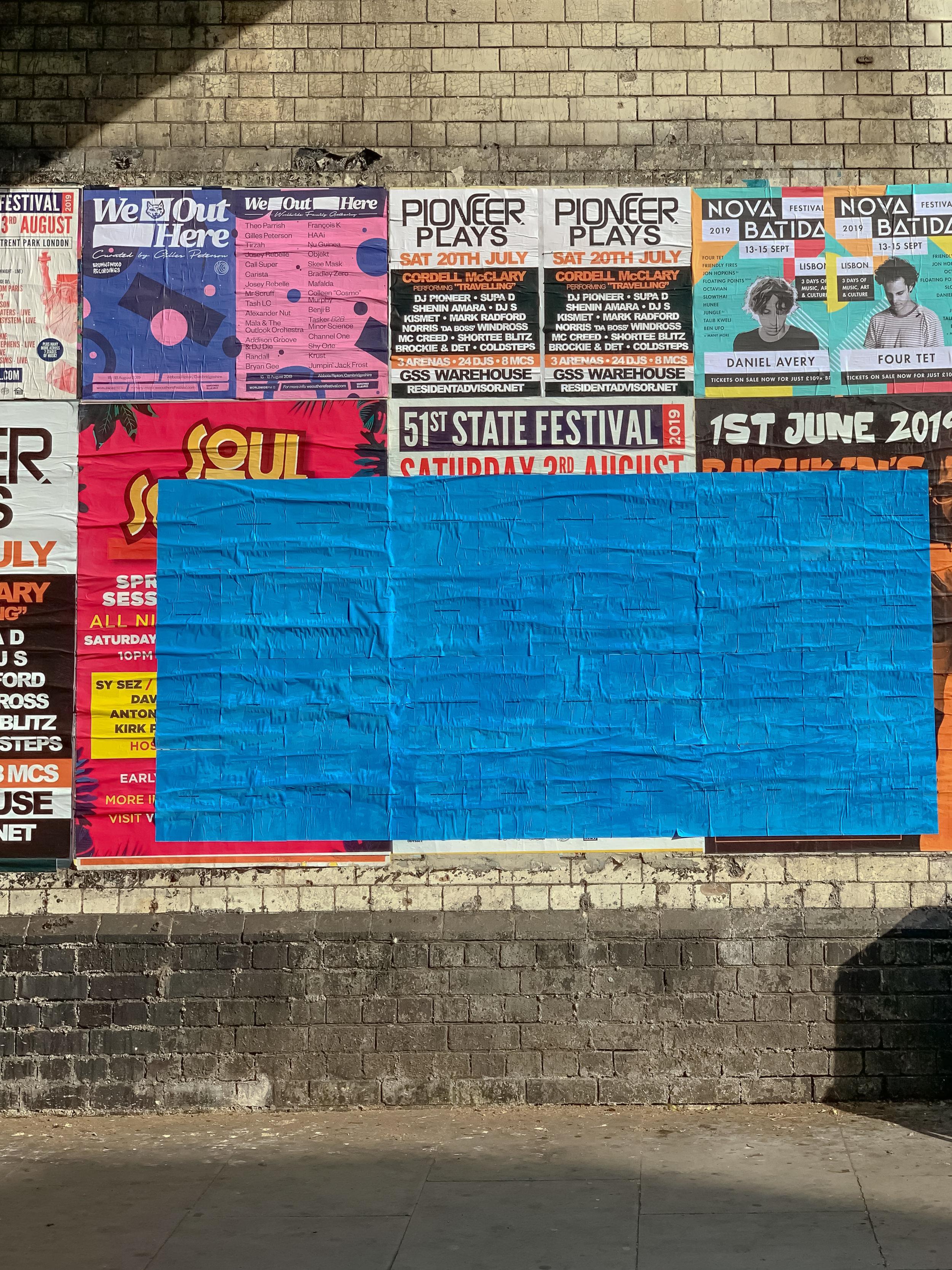 Visual Poetry Series. Public Space. (2019) (2.5m x 1.2m)