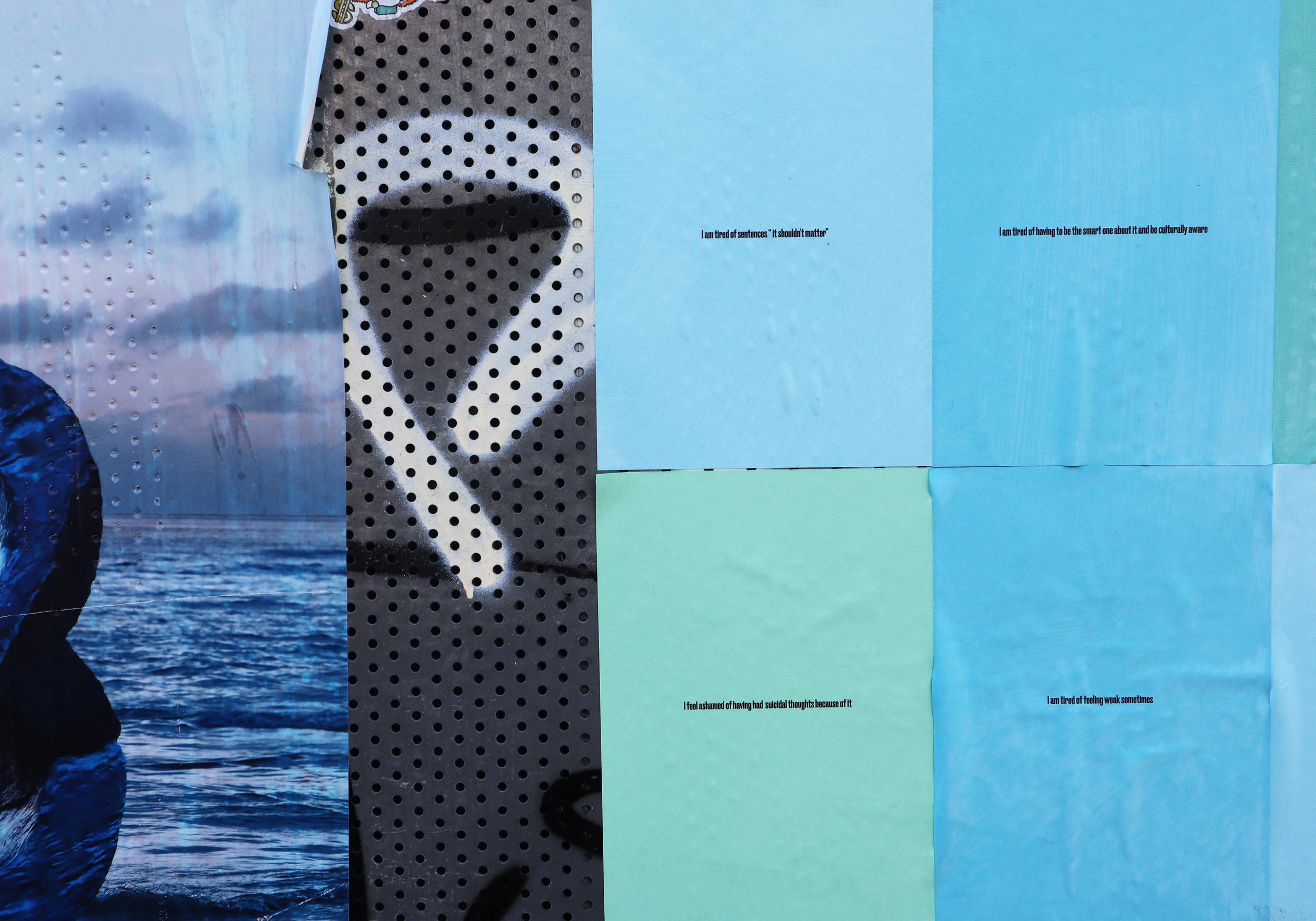 Visual Poetry Series. Public Space. (2019) (90cm x 120cm)