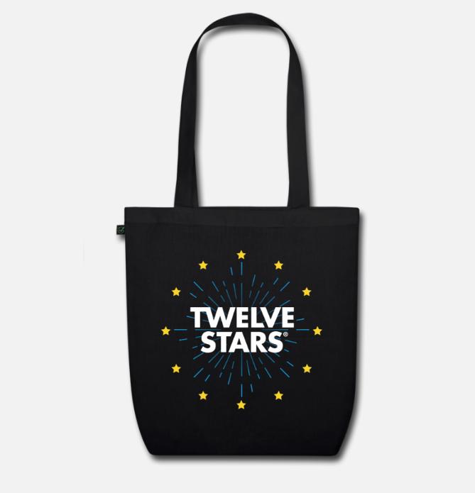 EURO RETRO STARS ORGANIC TOTE BAG