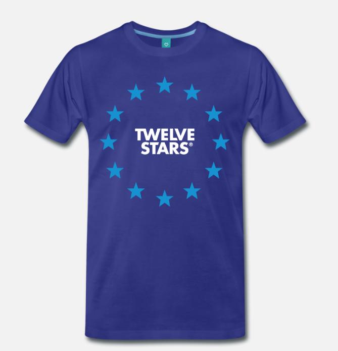 ORIGINALS BIG FLAG T-SHIRT BLUE