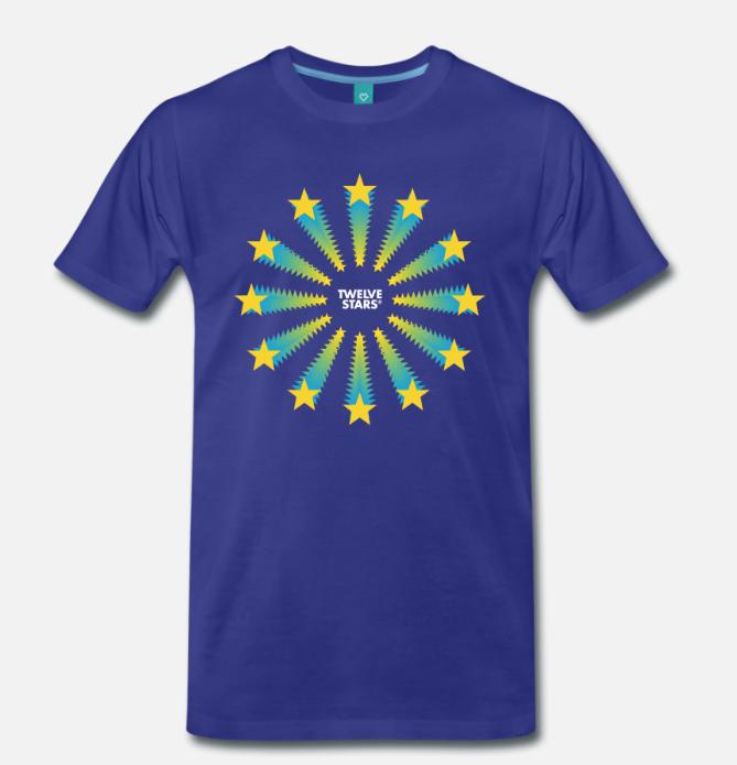 EURO RETRO SUPERSTARS T-SHIRT ROYAL BLUE