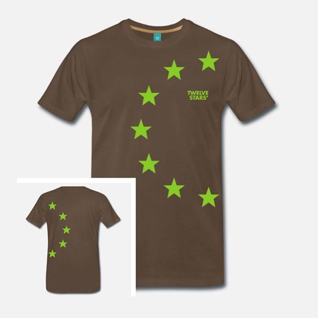 Limited edition #twelvestars Originals Collection t-shirt green stars front and back #design #europe #peace #streetwear #fashion twelvestars.com