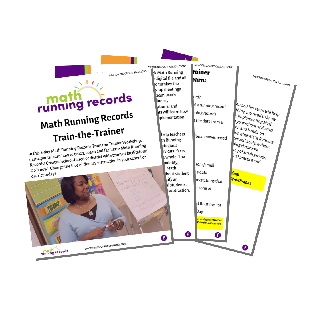 Math Running Records Train-the-Trainer