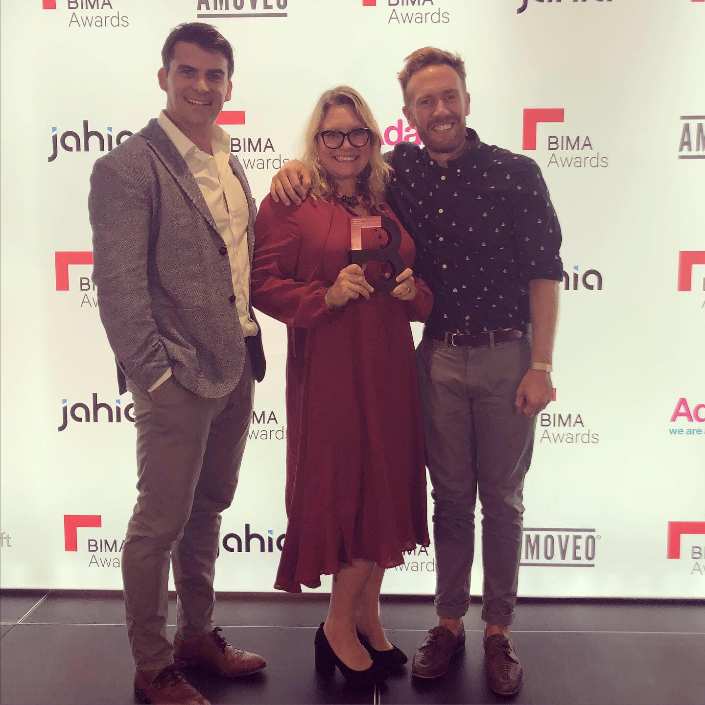 Shane, Victoria and Chris celebrate our BIMA award at the Institute of Engineering and Technology in London.