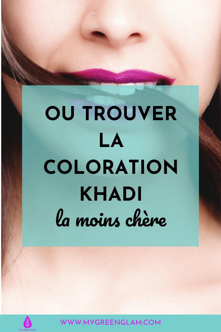 Où trouver la coloration Khadi la moins chère ?