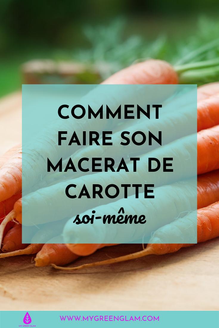 faire macerat de carotte