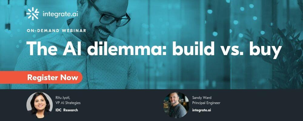 AI build vs. buy graphic