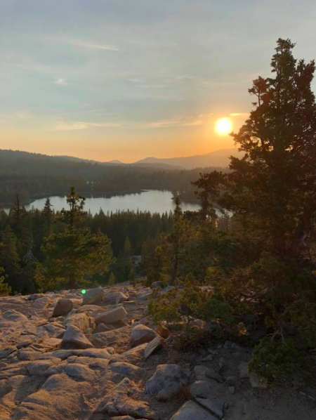 Camp winthers - the morning view over Cascade Lake