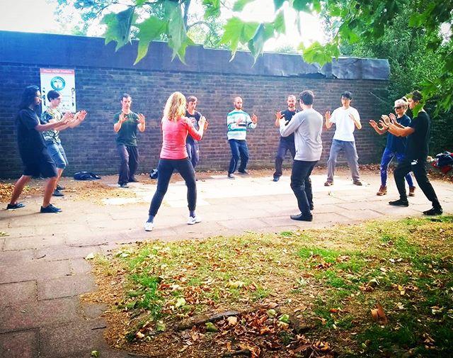 Duran and crew at the London Small Circle Training week. #heavenmanearth #taiji #taichi #london #dissolve