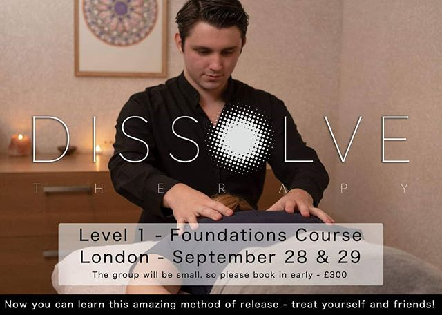 Finally, we're doing it! Come and learn the dissolve method. Learn how to treat yourself, friends and family. This is the first step in becoming a Dissolve Therapist!  www.dissolvetherapy.com hwww.dissolvetherapy.com/courses/london-dissolve-fundamentals  #dissolve #london  #therapist