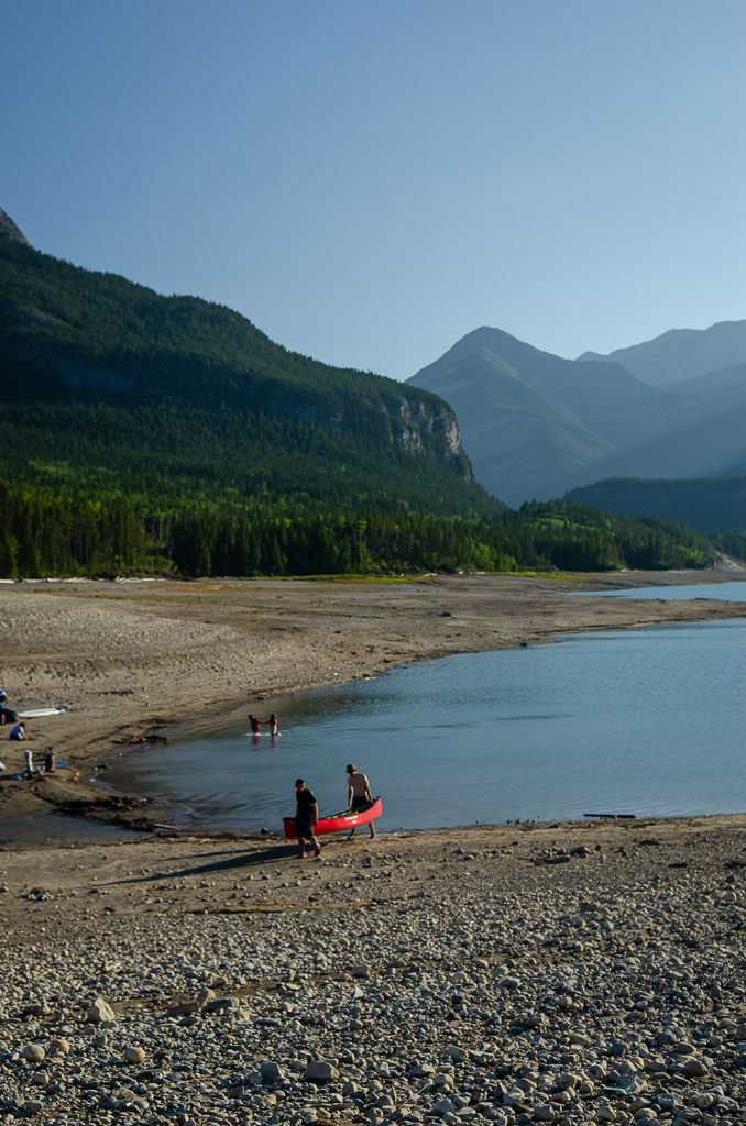 Canoe day at Barrier Lake