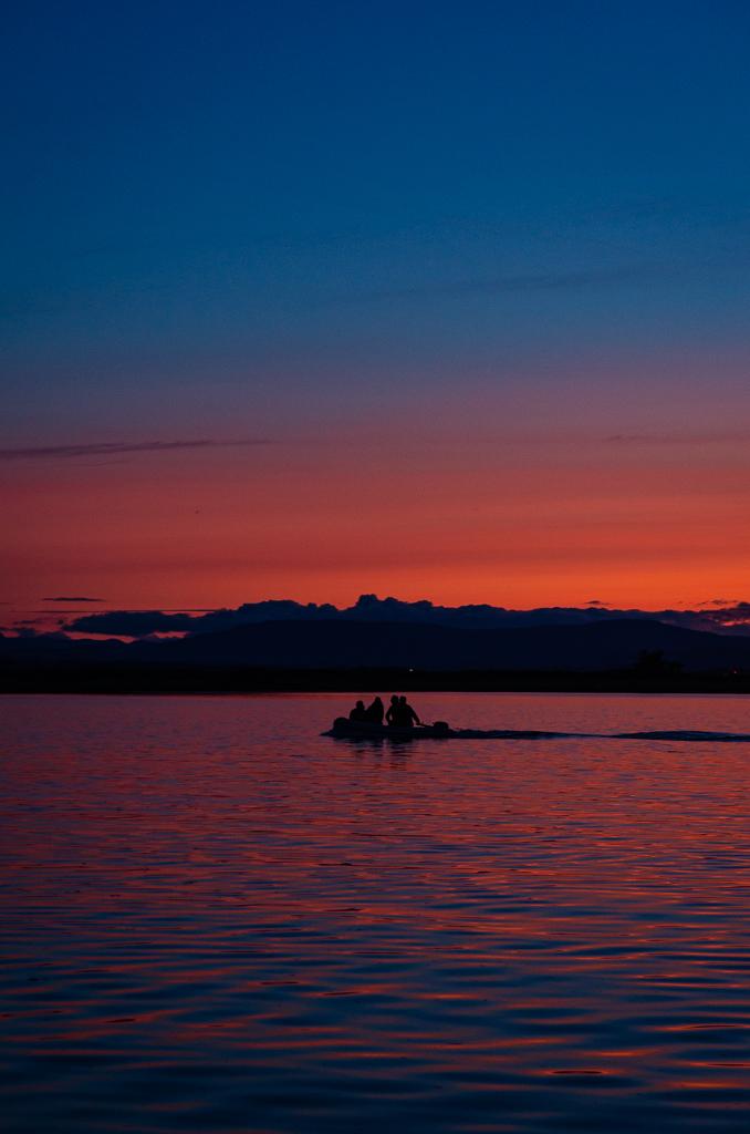 Sunset at Sidney Spit
