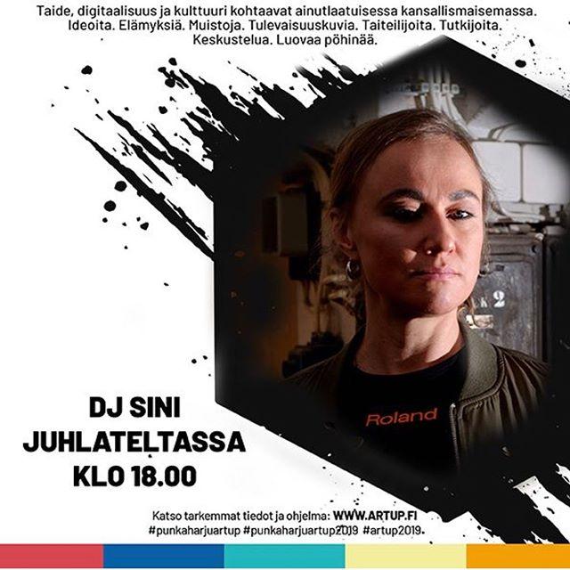 HUOMENNA DJ SINI klo 18.00. Juhlateltassa! #punkaharjuartup #artup2019 #punkaharju #punkaharjuartup2019 #artuppunkaharju2019 #artuppunkaharju