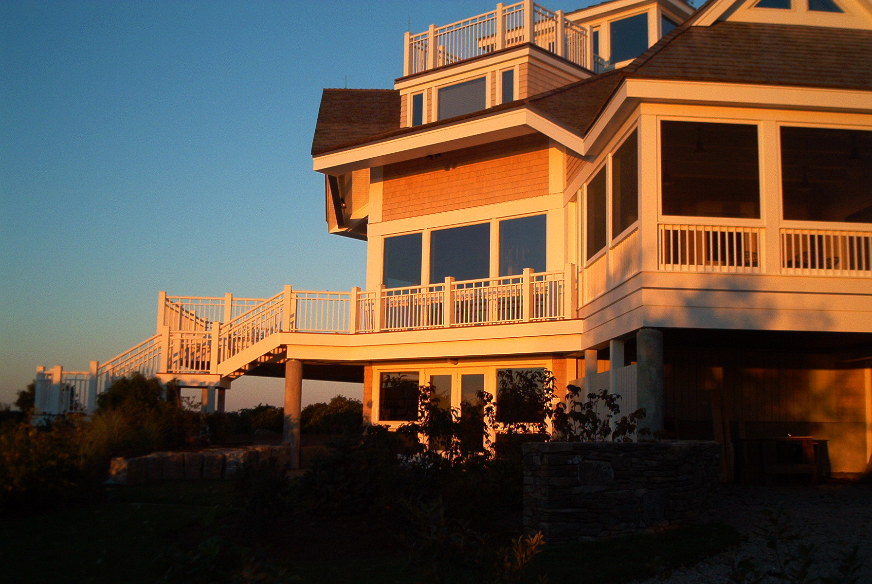 exterior deck of custom home remodel