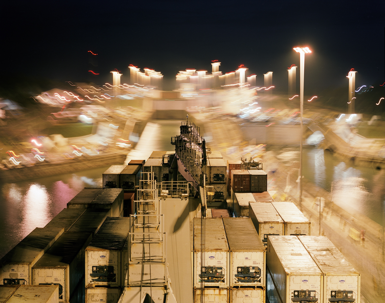 M.V. Charles Island Transiting the Panama Canal