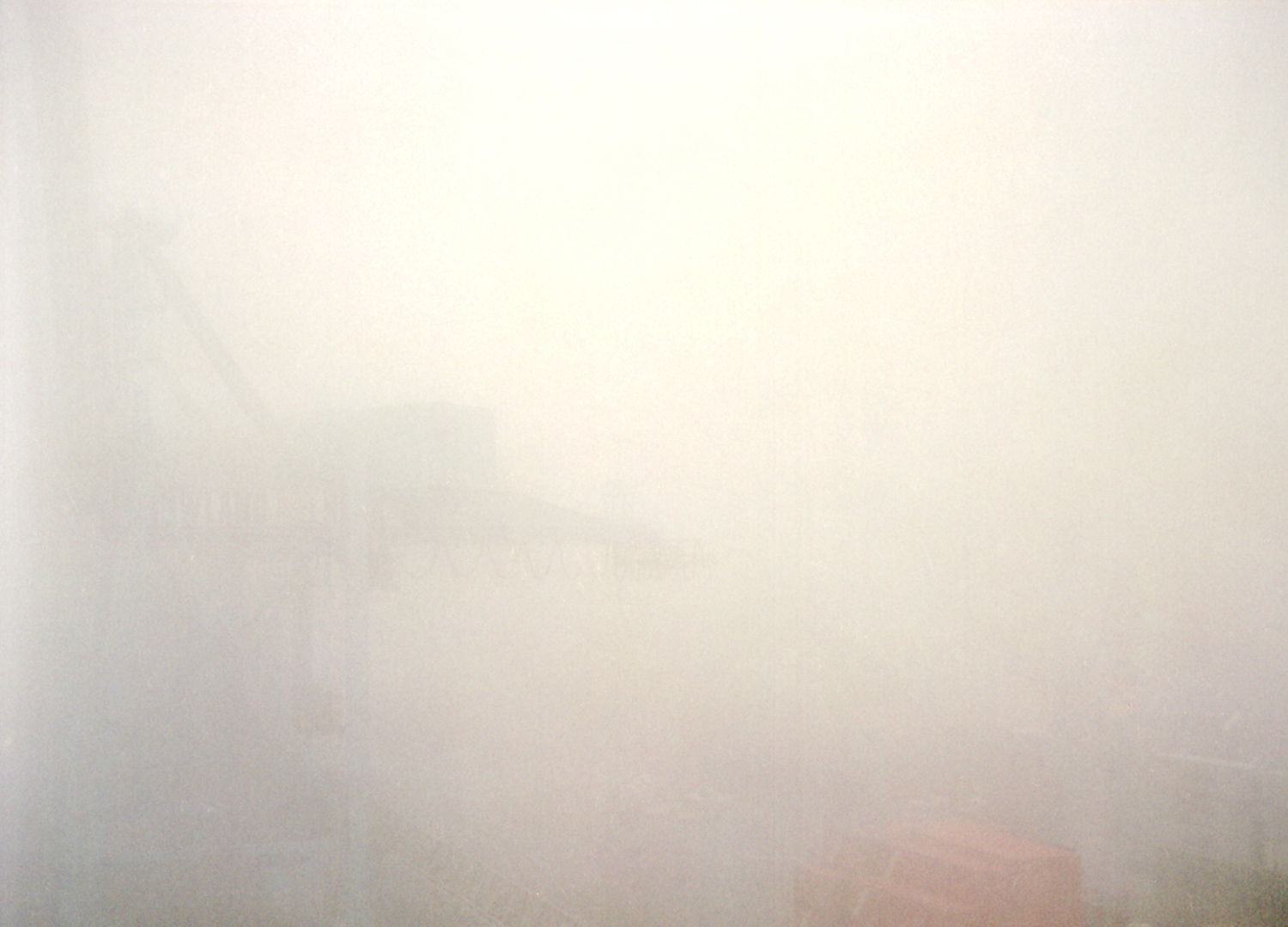 Fog, New York Container Terminal