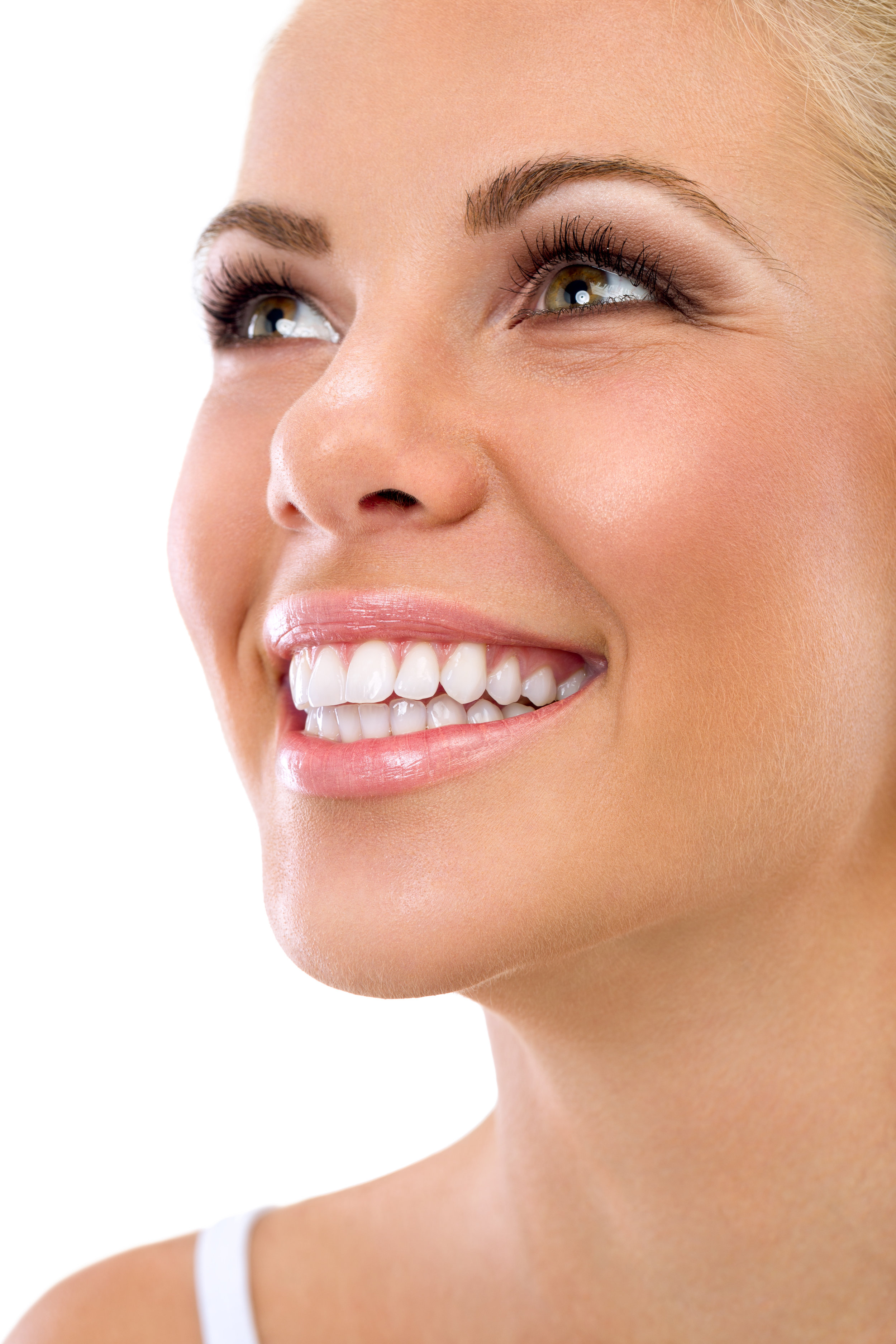 Woman Smiling with Porcelain Veneers from Eastlake Center for Implants and Restorative Dentistry