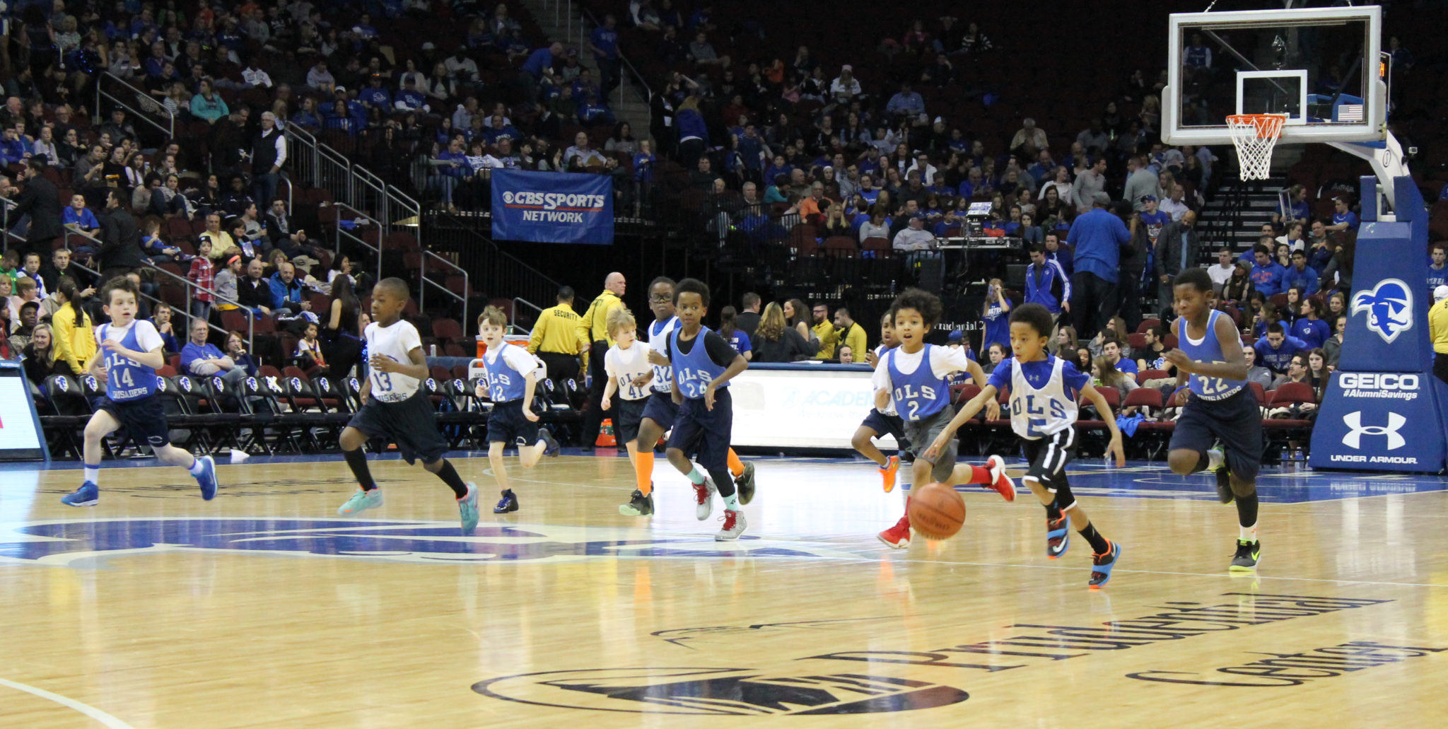 Each year, the OLS Basketball team plays at the Prudential Center (during halftime of a Seton Hall basketball game).