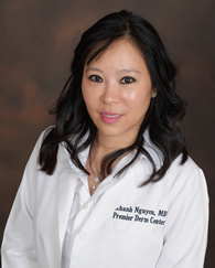 "Dr. Khanh ""Connie"" Nguyen - Dr. Khanh ""Connie"" Nguyen (pronounced ""Win"") is a board-certified cosmetic dermatologist, meaning she is certified to the highest standard of medical qualification in her field. Dr. Nguyen underwent her dermatology training at the world-famous Texas Medical Center and MD Anderson Cancer Center. She attended Washington University in St. Louis, then University of Texas Medical School in Houston.Read More »"