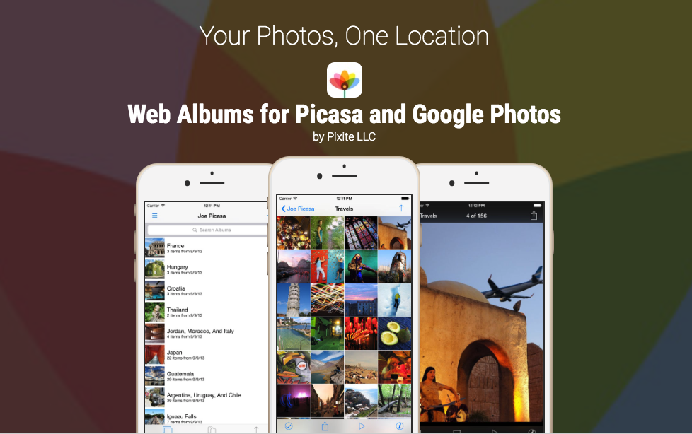 Web Albums App (Pixite 1.0) - Within a couple of months, Scott and Eugene launched a Picasa Web Albums client called Web Albums on the iPhone. Immediately, Web Albums took off and was generating enough money to support Scott and Eugene full-time. In April 2010, Apple launched the first iPad and with that Web Albums became one of the top selling apps on the App Store. Riding on the success of Web Albums, Scott and Eugene created photo management apps for Flickr, Facebook, and Dropbox. Pixite finally retired Web Albums in 2017 after more than seven years on the App Store.