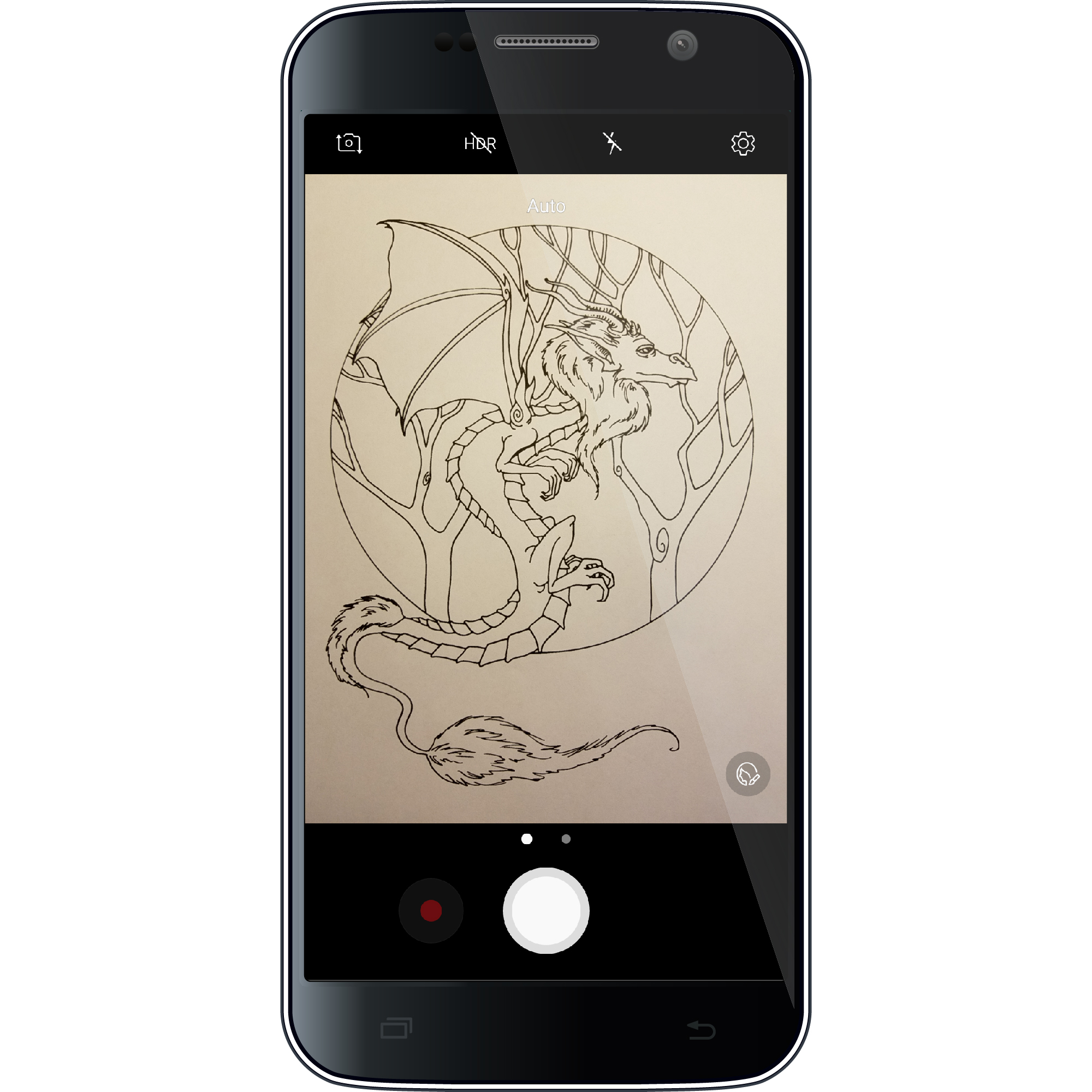 Take A Picture - Another option for importing is by taking a picture with your device's camera.This option is great if you have coloring books you want to color in Pigment.